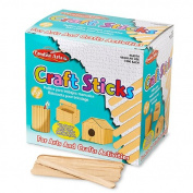 Wood Craft Sticks, 11cm x 1cm , Regular, 1000/BX, Natural