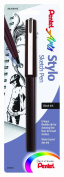 Pentel Arts Stylo Sketch Pen, Black Ink, 1 Pack