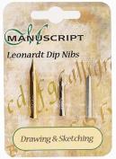 Manuscript Leonardt 3pc Ink Dip Pen Nib Set - Drawing & Sketching