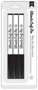 American Crafts 3-Pack Ultimate Craft Pen, Black