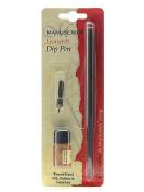 Manuscript Chronicle Dip Pen Holder & Ink Set gold