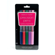 American Crafts Precision Pen 5-Pack, .05 Point, Multi Colour