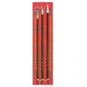 Manuscript Chinese Calligraphy Goat Hair 3pc Brush Set