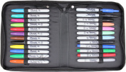 24 Pc Sharpie Marker Set with Zippered Storage Case