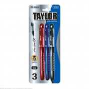 BAZIC Taylor Assorted Colour Rollerball Pen 144 Packs of 3