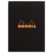 Rhodia Classic Black Notepad 3.38X4.75 Lined