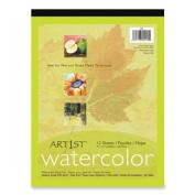 RIV05003 PAD,watercolour,9X12,15SH