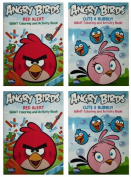 """Angry Birds """"Cute & Bubbly!"""" & """"Red Alert"""" Set (2 Pack) 96 Page Colouring and Activity Book"""