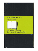 Moleskine Cahier Journals black, blank 8.9cm . x 14cm . pack of 3, 64 pages each [PACK OF 3 ]