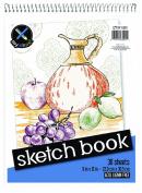 Top Flight Sketch Book, Heavy Back, Top Wire, 23cm x 30cm , 30 Sheets
