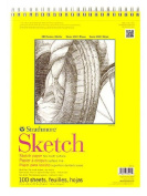 Strathmore 300 Series Sketch Pads 28cm . x 36cm . wire bound 100 sheets
