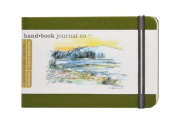Global Art Materials 8.9cm by 14cm Drawing Book, Pocket Landscape in Cadmium Green