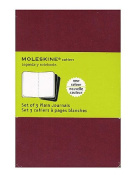 Moleskine Cahier Journals red, blank 8.9cm . x 14cm . pack of 3, 64 pages each [PACK OF 3 ]