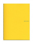 Fabriano EcoQua Notebooks spiral blank lemon 21cm x 30cm .