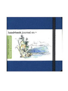 Hand Book Journal Co. Travelogue Drawing Journals 14cm . x 14cm . square ultramarine blue