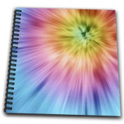 Perkins Designs Potpourri - Colourful Starburst Tie Dye - vibrant colours burst out of this attractive tie dye design - Drawing Book