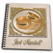 Beverly Turner Design - Gold Rings Just Married - Drawing Book