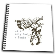 PS Vintage - If I only had a brain vintage Wizard of Oz Scarecrow - Drawing Book