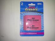 Pink Eraser 2 Pack