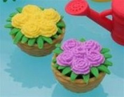 Flower Basket Japanese Eraser. 2 Pack. Assorted Colours. By PencilThings