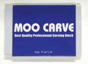 MOO Carve Block 4 by 15cm by 1.9cm , Stamp Carving and Printmaking