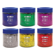 BAZIC 56.6g60ml Primary Colour Glitter Shaker with PDQ