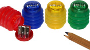 Kum 303.74.21 Magesium Ice Mini-Softie 2-Hole Pencil Sharpener with Container, Colours Vary