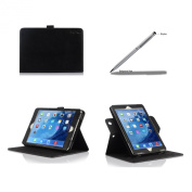 ProCase Apple iPad mini with Retina Display Case with bonus stylus pen - Rotating Stand Folio Case Cover (horizontal and vertical display) for iPad mini 2 (2013) and iPad mini (2012), with Smart Cover Auto Sleep/Wake