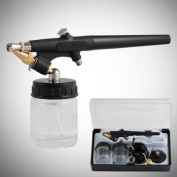 0.8mm Syphon Feed Single-Action Airbrush Paint Spray Gun Kit Set