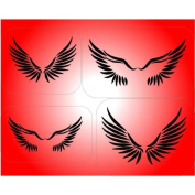 Wings set stencil