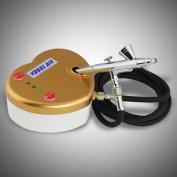 New Mini Airbrush Kit w/ Heart Air Compressor, Dual Action Airbrush & 6'ft Hose