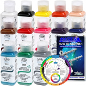 13 Colour 60ml TESTORS AZTEK Premium Opaque Semi-Gloss Acrylic Airbrush Paint Set
