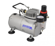 Airbrush Depot TC-20 MINI AIRBRUSH COMPRESSOR WITH WATER TRAP AND REGULATOR