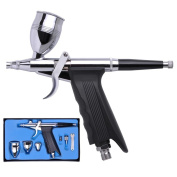 Professional 0.3mm Nozzle Pistol Trigger Gravity Feed Airbrush Design with 3 Fluid Cups