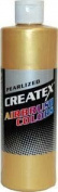 3.8l of Createx Pearl Satin Gold Pearlized Airbrush Colour CREATEX #5307