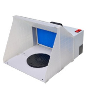 Airbrush Spray Booth with Powerful Fan, Fibreglass filter Sponges and Revolvable Turn Table