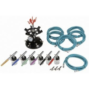 Central Pneumatic Professional 6-Colour Airbrush Kit with Holder