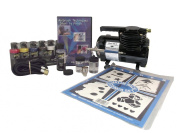 Badger Air-Brush Co. 314-CSWC Craft/Decorative Scrapbook Stencilling System with Compressor