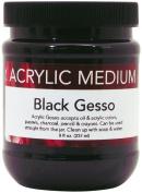 Art Advantage 240ml Acrylic Black Gesso