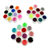 HotEnergy 36 Pots Cover Pure Colours UV Gel for UV Nail Art Tips Extension Professional Nail Art UV Gel US