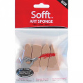Colorfin PP61100 Sofft Art Sponges, Assorted, 4-Pack