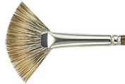 Silver Brush 2604S-4 Monza Short Handle Synthetic Mongoose Brush, Fan, Size 4