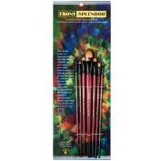 Ebony Splendour Brush Long Handle Filbert Set