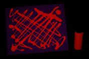 60ml Orange Blacklight Reactive Fluorescent Tempera Paint