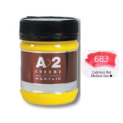 A_2 Student Acrylic 250 ml Jar - Cadmium Red Med. Hue