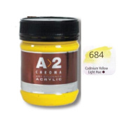 A_2 Student Acrylic 250 ml Jar - Cadmium Yellow Light Hue
