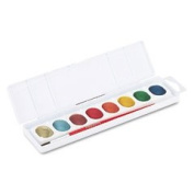 Prang 80516 - Metallic Washable Watercolours, 8 Assorted Colours-DIX80516