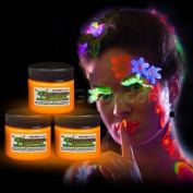 Glominex Glow in the Dark Face and Body Paint 30ml Jar - Orange