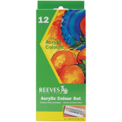 Reeves 12ml Acrylic Paints, Assorted Colour