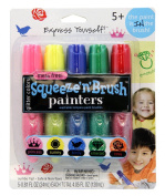 Painters Squeeze 'N Brush Washable Tempera Paint Brushes, Glitter Colours, Set of 5 Brushes